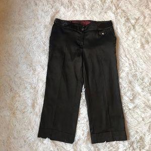 3/$25 Badelli Black Silky Bermuda Cropped Pants